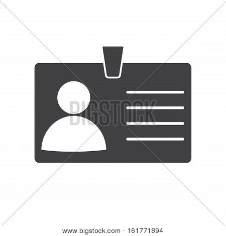 Identification card icon on white background Identification card symbol.