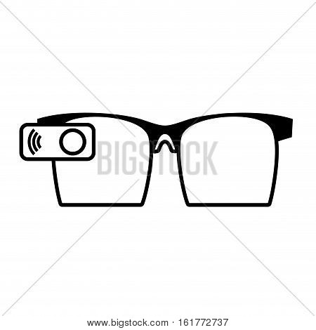 ar glasses smart entertaiment wearable vector illustration eps 10