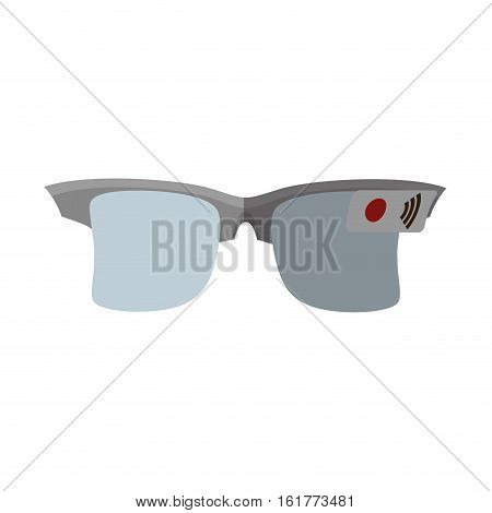 ar smart glasses device virtual cyberspace vector illustration eps 10