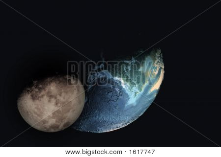Globe And Moon