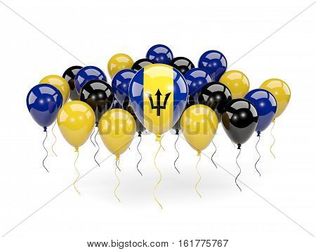 Flag Of Barbados With Balloons