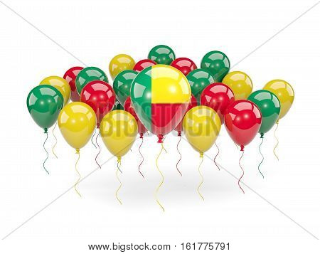 Flag Of Benin With Balloons