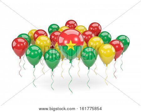 Flag Of Burkina Faso With Balloons