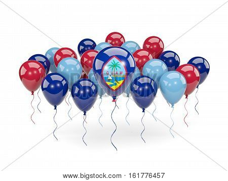 Flag Of Guam With Balloons