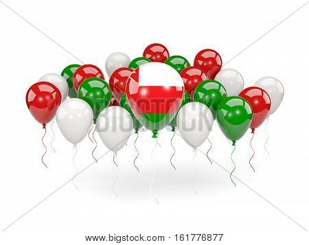 Flag Of Oman With Balloons