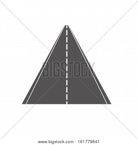 road icon on white background road symbol. Vector illustration.