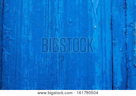 Blue  texture wood with structure and cracks background