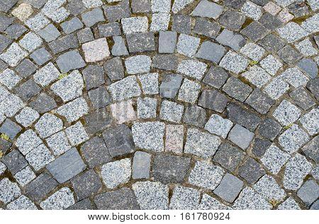 cobblestone boulevard as background