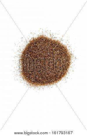 Hickory Smoked Salt Isolated On White Background