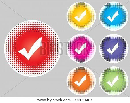 (raster image of vector) check buttons different colors