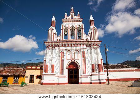 Belfry on church in San Cristobal de las Casas, Chiapas region, Mexico.