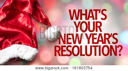 Whats Your New Year's Resolution?