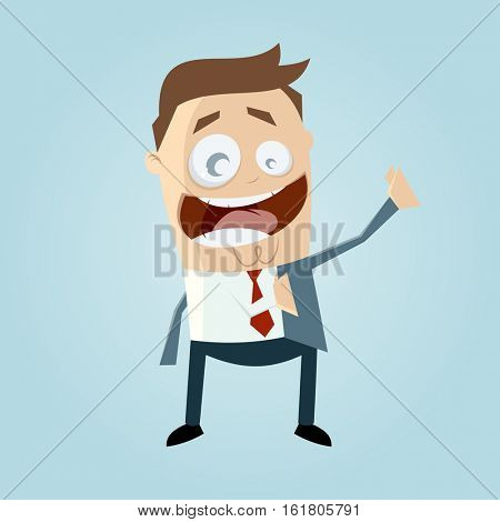clipart of a businessman putting on his jacket