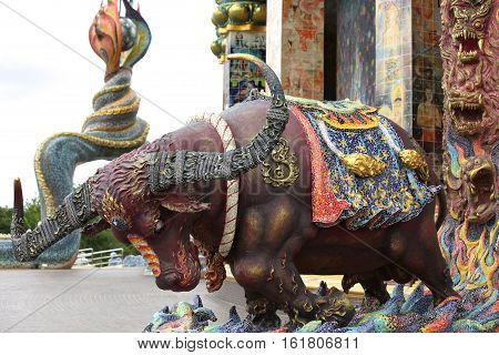 Sculptures of various animals in Thailand Southeast Asia