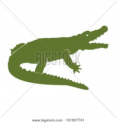 Green Crocodile Vector