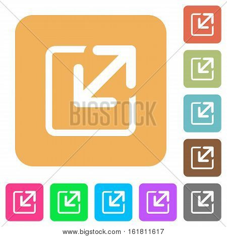 Resize window icons on rounded square vivid color backgrounds