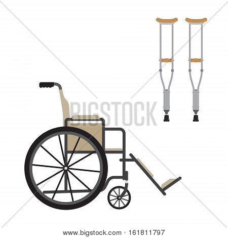 Wheelchair And Chrutches