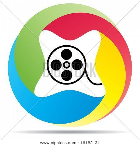 (raster image of vector) media button