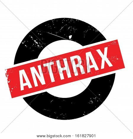 Anthrax rubber stamp. Grunge design with dust scratches. Effects can be easily removed for a clean, crisp look. Color is easily changed.