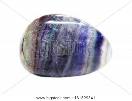 fluorite semigem geological crystal isolated purple green
