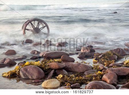 A view of rocky coast in Windang Island, Australia. Dec 2016
