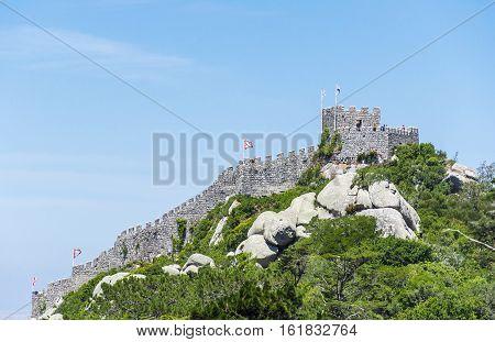 Castle of the Moors, Sintra, near Lisbon in Portugal