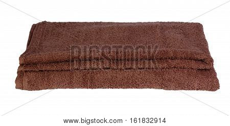 Broun bath towel. Isolation on white background.