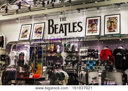 Las Vegas - Circa December 2016: The Beatles Shop at The Mirage. This is the only licensed Beatles retail store II