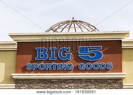 Las Vegas - Circa December 2016: Big 5 Sporting Goods Strip Mall Location. Big 5 Sporting Goods is a sporting goods retailer III