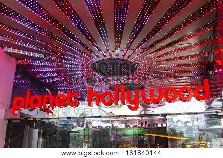 Las Vegas - Circa December 2016: Planet Hollywood Resort and Casino in Las Vegas. Planet Hollywood is owned by Caesars Entertainment I