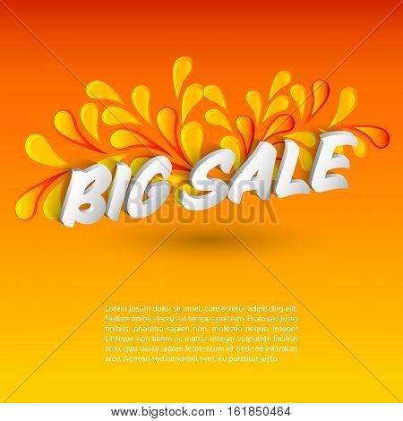Big sale promo department store. Vector background