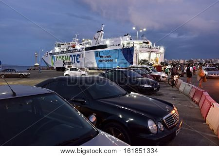 Ferries In Rafina Harbor, Attica, Greece