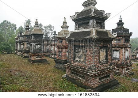 Buddhist monks tomb forest at Bo Da ancient pagoda