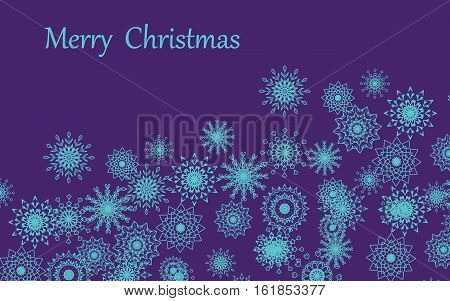 Merry Christmas of a snowflake a background a card   Vector illustration it is maybe used for any professional project