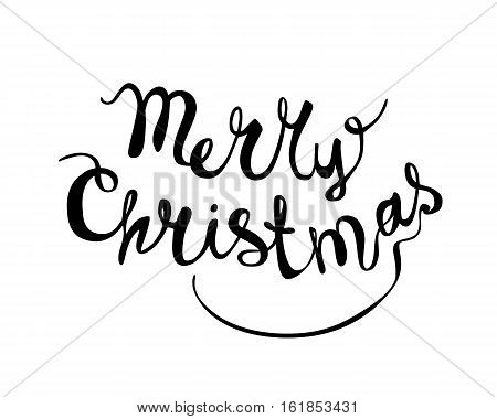 Merry Christmas Hand Writing Congratulation