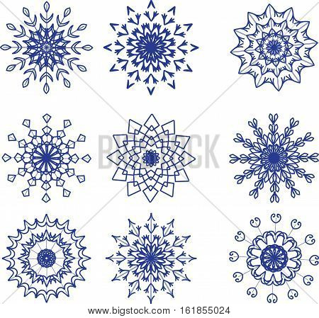 Set of snowflakes Vector illustration it is maybe used for any professional project