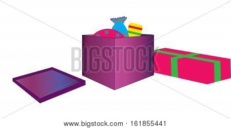 Gift New Year's Vector illustration it is maybe used for any professional project