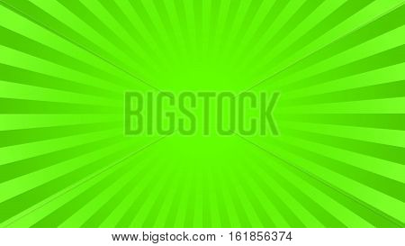 Bright green rays background with 16 9 aspect ratio. Comics, pop art style. Vector, eps 10.