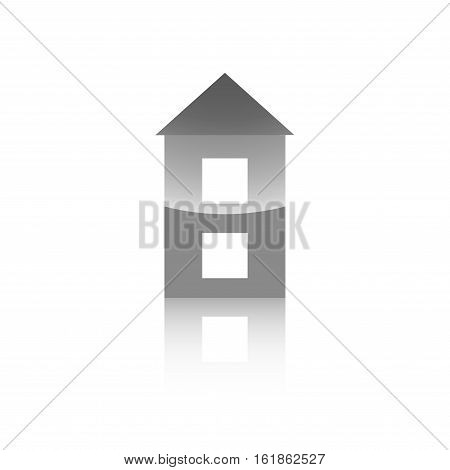 Icon For A Website Building A Two-storey House On A White Background