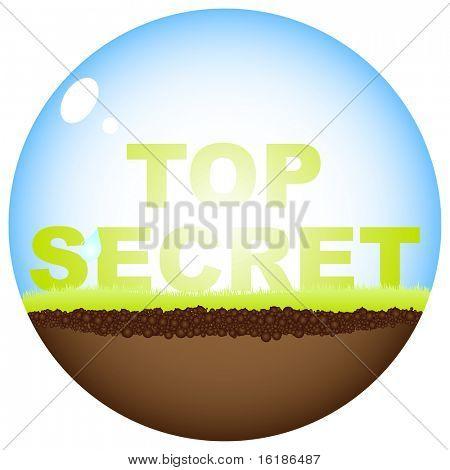 (raster image of vector) top secret stamp