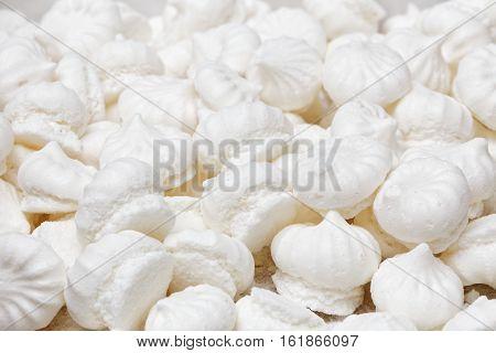 Small White Meringue Cookies