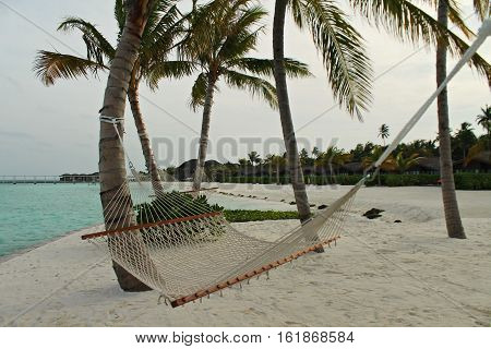 Hammock for resting and be fine in Maldives