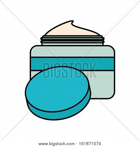 moisturizer facial cream icon over white background. makeup and cosmetic concept. colorful design. vector illustration
