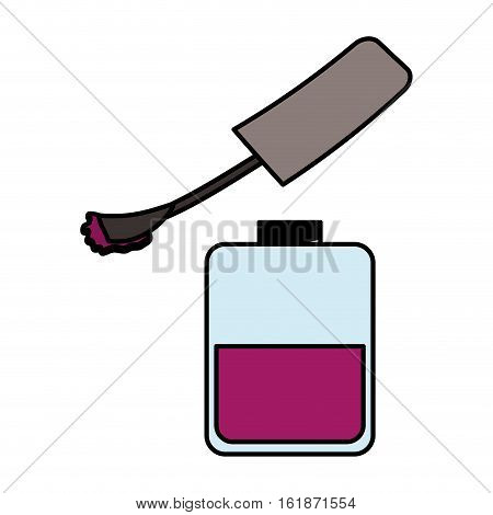 purple nail lacquer icon over white background. colorful design. vector illustration