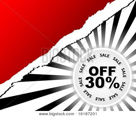 (raster image of vector) irty percent discount