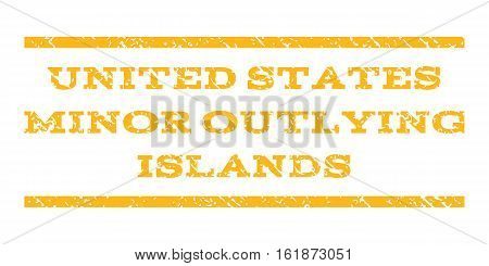 United States Minor Outlying Islands watermark stamp. Text caption between horizontal parallel lines with grunge design style. Rubber seal stamp with scratched texture.