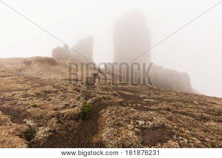 Trail to Roque Nublo. Gran Canaria Canary Islands Spain