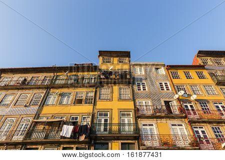 Colorful architecture of Porto. Porto Norte Portugal.