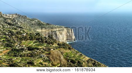 High Dingle cliff on the island of Malta