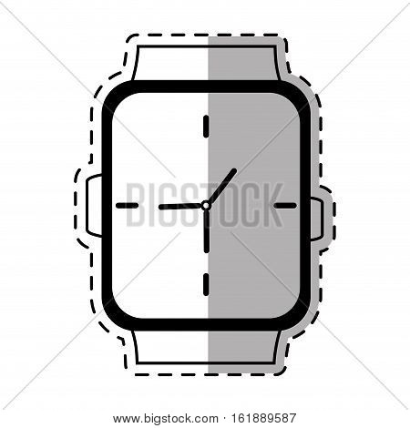 classic analog watch wearable shadow vector illustration eps 10